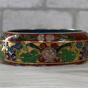 Cloisonne Chinese floral bangle